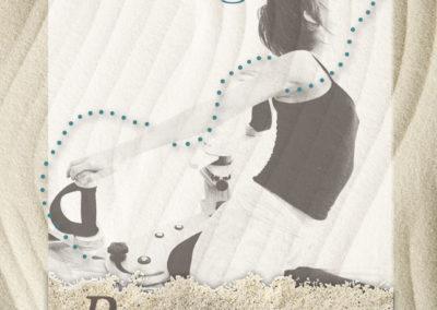 création design graphique pour flyer sur mesure pour rivage studio- By com-empreintes