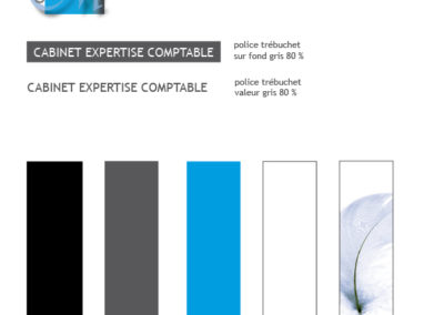 Création design pour signalétique-marquage cabinet comptable - By com-empreintes - agence de communication pour TPE-PME