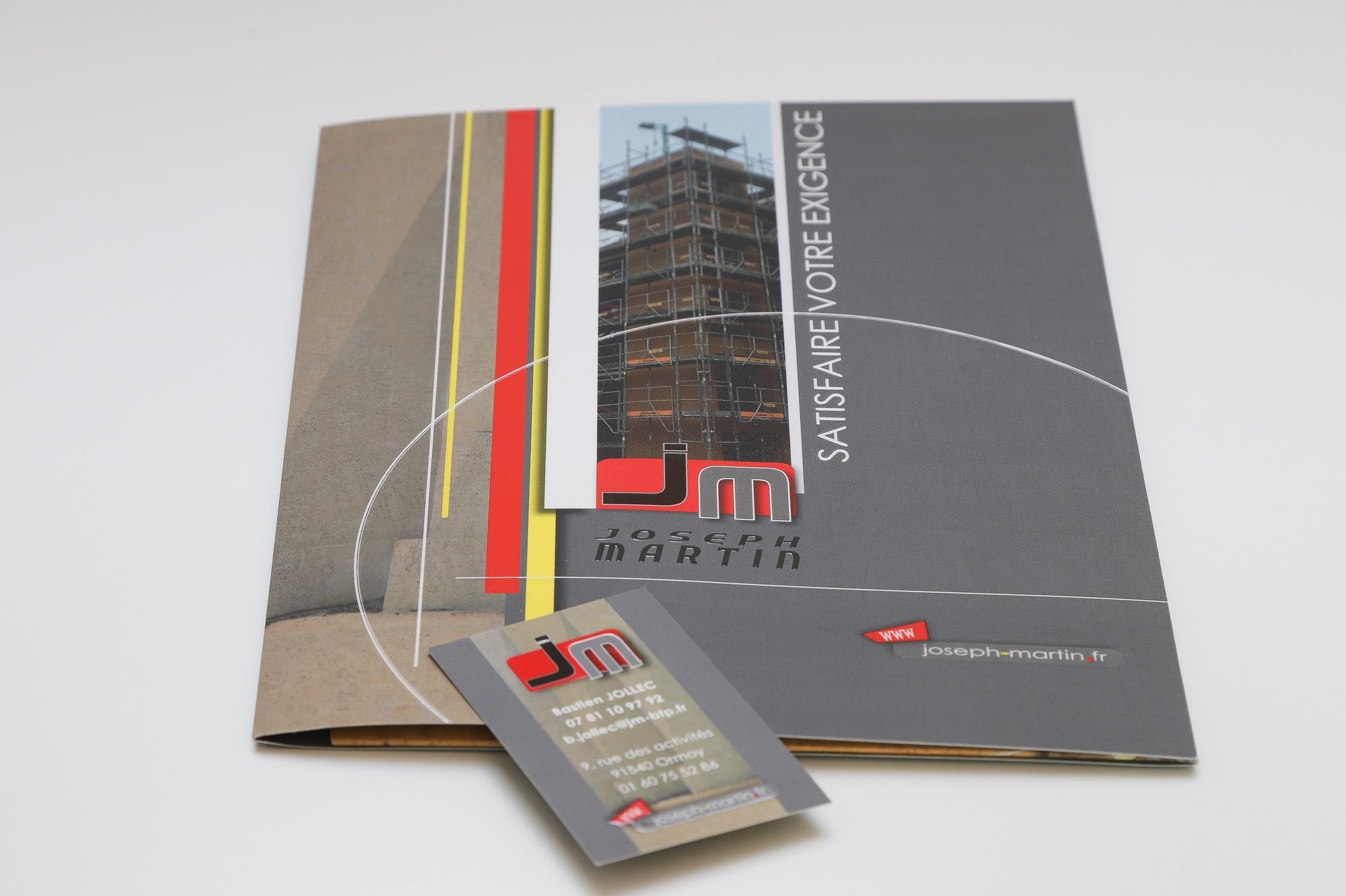 création chemise porte-documents sur mesure- By Com' Empreintes