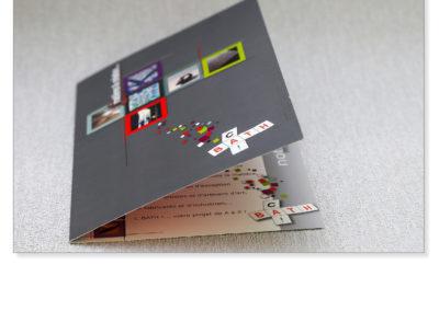 Création plaquette commerciale pour entreprise TPE-PME pour société d'objets design- By Com' Empreintes