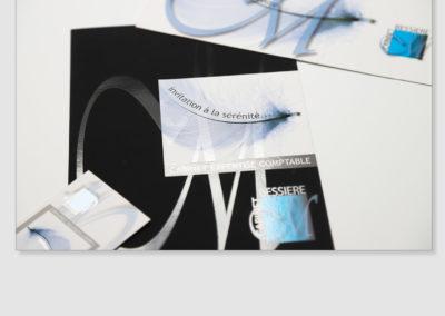 création carte de visite + plaquette pour cabinet expert comptable - By Com' Empreintes