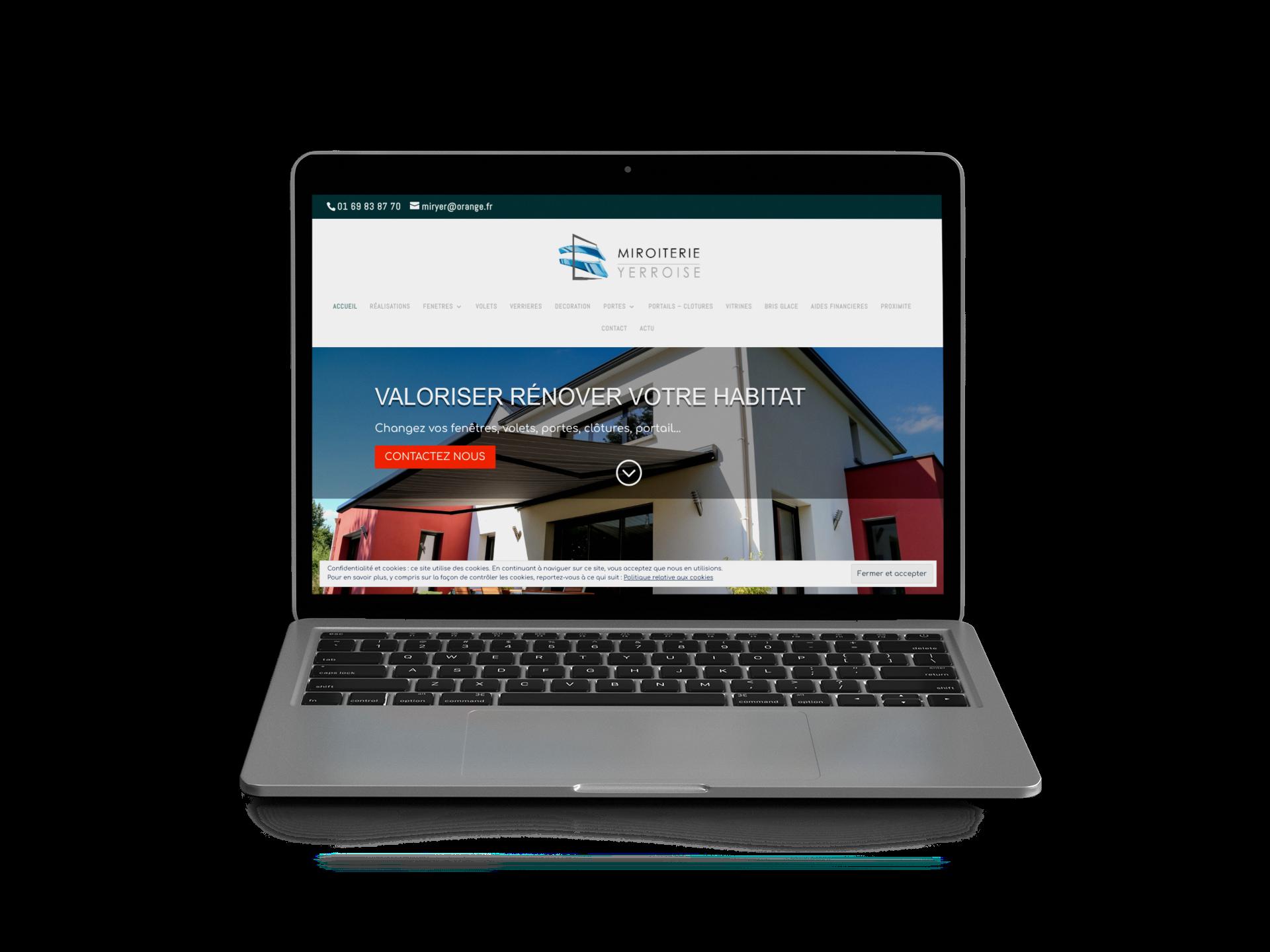 Création site web vitrine pour artisan batiment