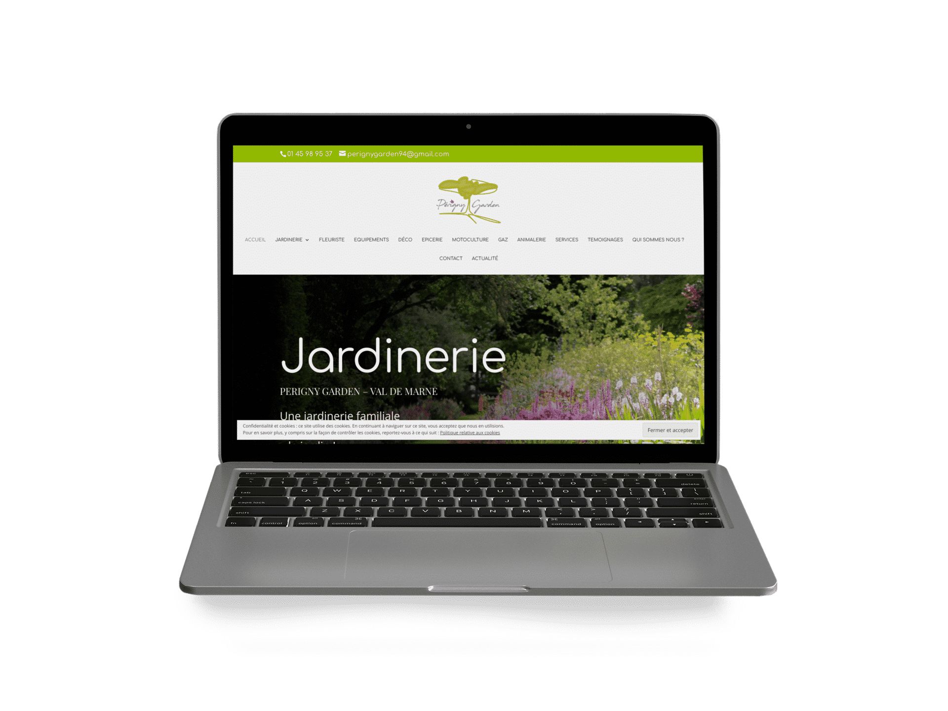 Création site web vitrine pour commerce jardin -  Par l'agence de communication digitale Com' Empreintes