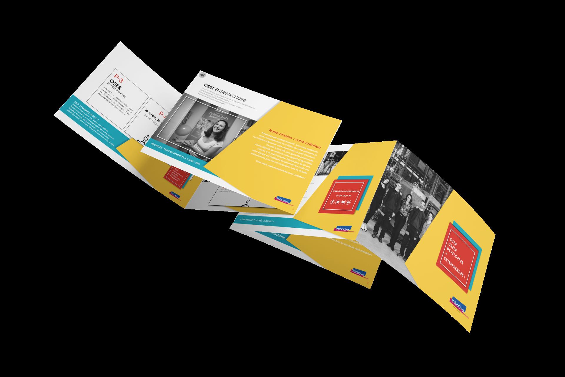 Création plaquette numérique interactive sur mesure pour Initiative Essonne par Com' Empreintes