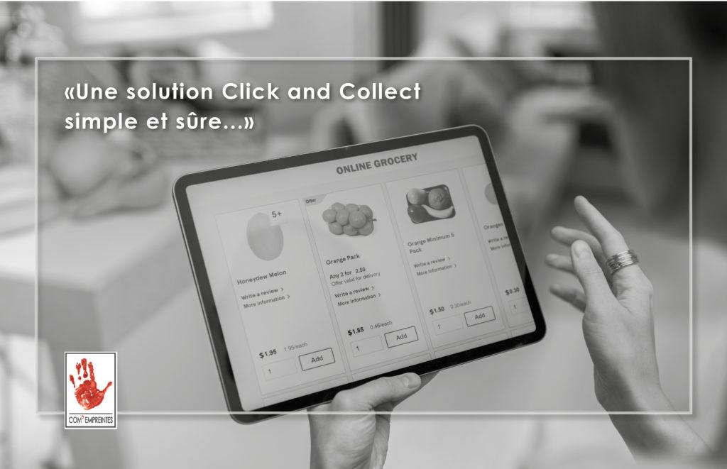 création site e-commerce click and collect par Com' Empreintes