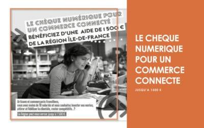 Chèque numérique /  Artisans – commerçants, comment financer votre communication digitale ?