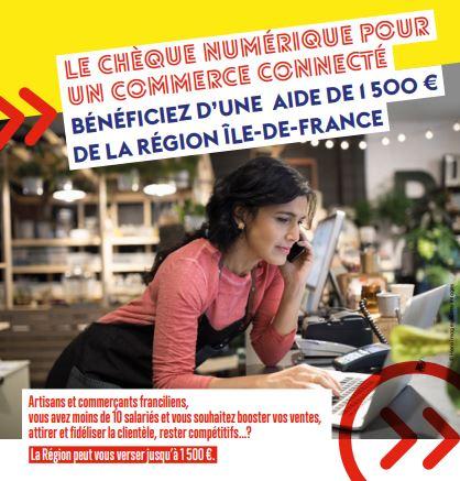 chèque numérique pour commerçants et artisans - région ile de france