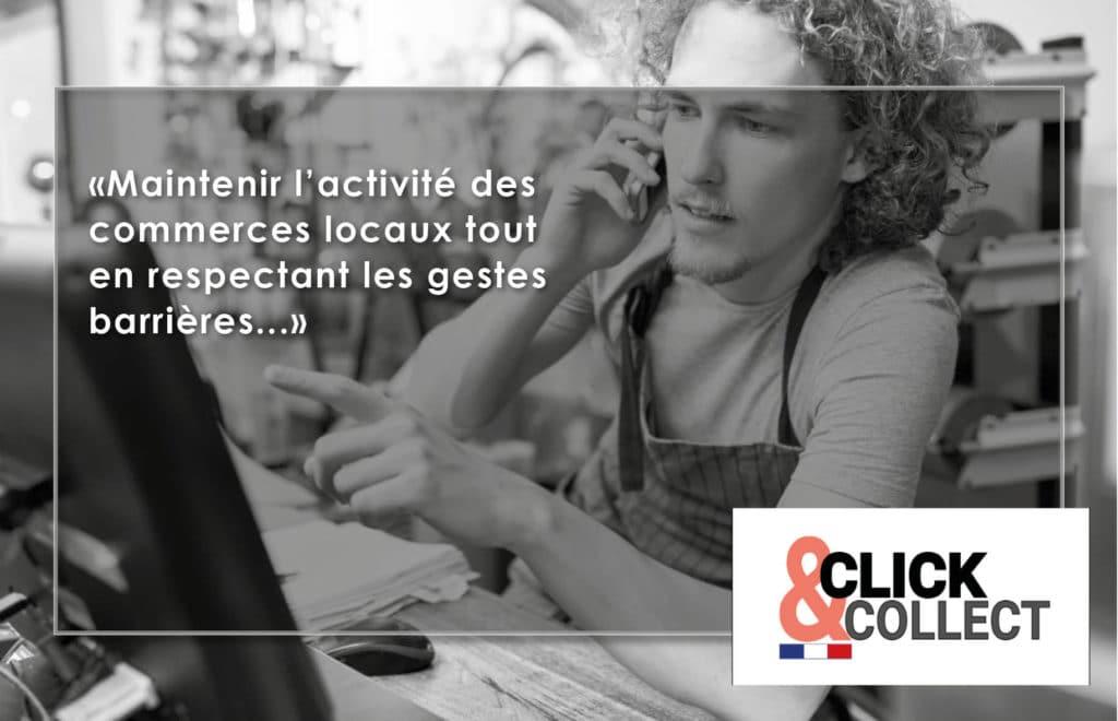 creation site click and collect pour commerce de proximité / restaurant - par com empreintes
