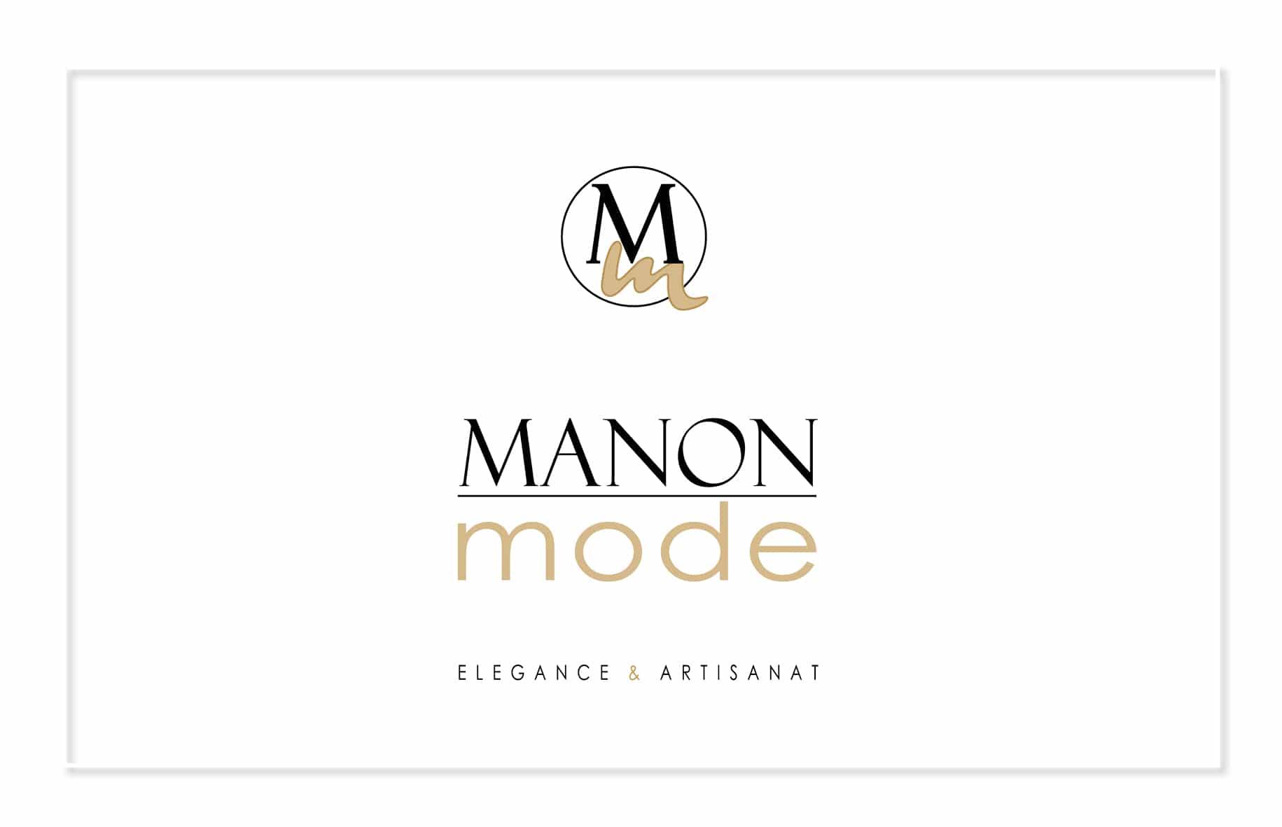 création de logo sur mesure pour la société Manon Mode secteur de la mode par Com' Empreintes