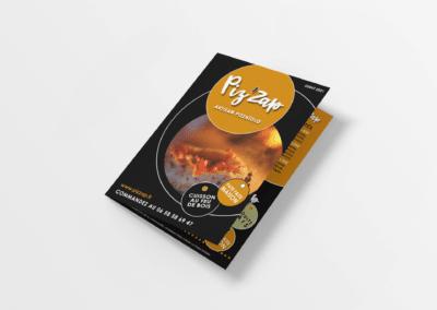 Création menu Piz'zap