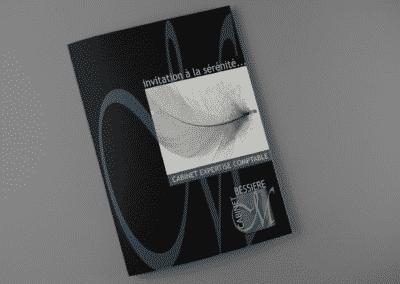 Création plaquette pour consultant par Com Empreintes