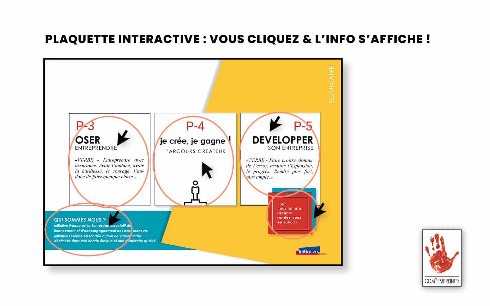 Une plaquette digitale interactive pour lecture simple, ludique et dynamique - Par Com' Empreintes